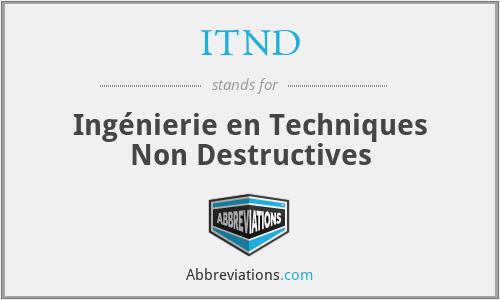 ITND - Ingénierie en Techniques Non Destructives