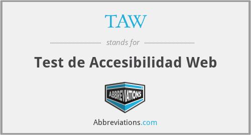 TAW - Test de Accesibilidad Web