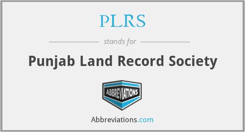 PLRS - Punjab Land Record Society