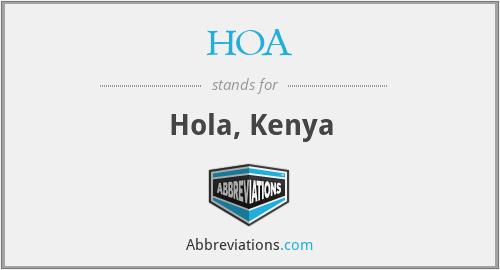 HOA - Hola, Kenya