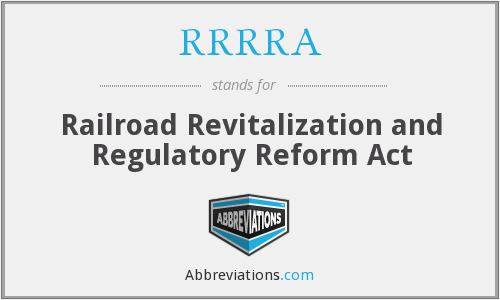 What does RRRRA stand for?