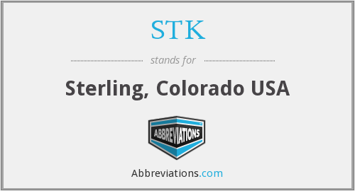 STK - Sterling, Colorado USA
