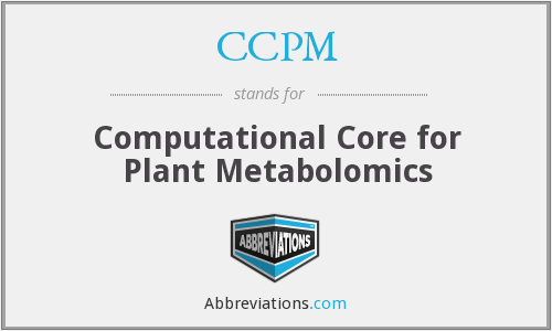 CCPM - Computational Core for Plant Metabolomics