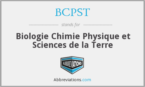 BCPST - Biologie Chimie Physique et Sciences de la Terre