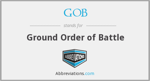 GOB - Ground Order of Battle