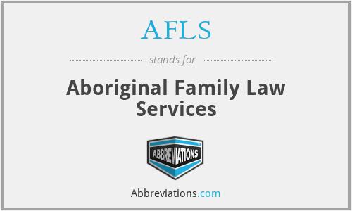 AFLS - Aboriginal Family Law Services