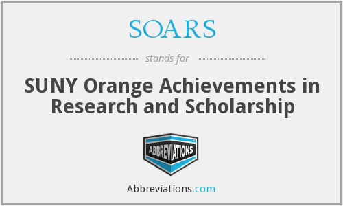 SOARS - SUNY Orange Achievements in Research and Scholarship