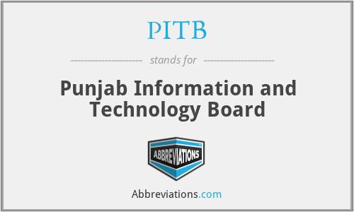 PITB - Punjab Information and Technology Board