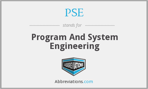 PSE - Program And System Engineering