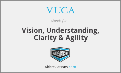 VUCA - Vision, Understanding, Clarity & Agility