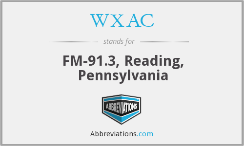 WXAC - FM-91.3, Reading, Pennsylvania