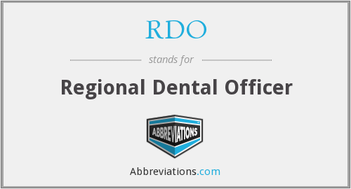 RDO - Regional Dental Officer