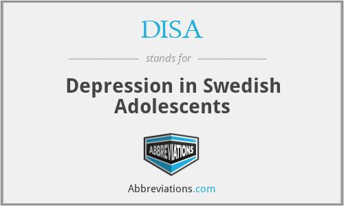 DISA - Depression in Swedish Adolescents