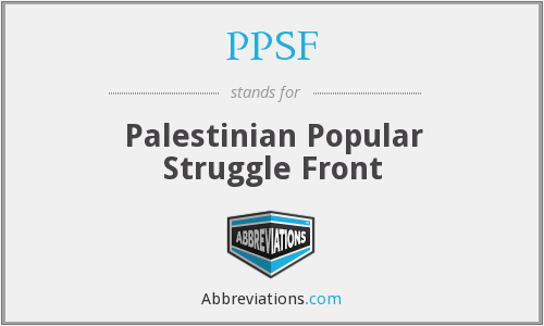 PPSF - Palestinian Popular Struggle Front