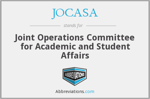 What does JOCASA stand for?