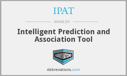 IPAT - Intelligent Prediction and Association Tool