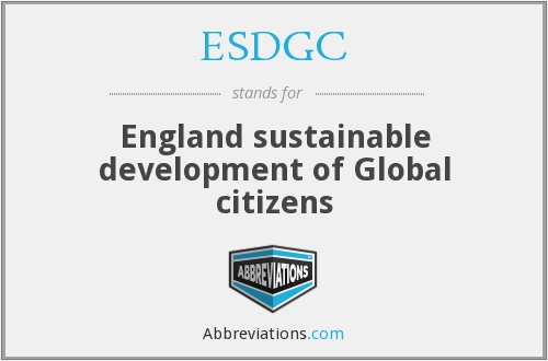 What does ESDGC stand for?