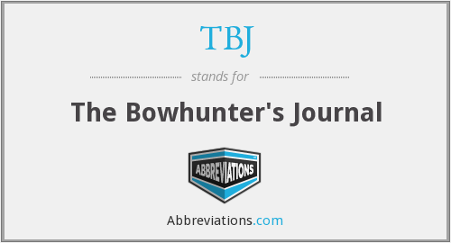 TBJ - The Bowhunter's Journal