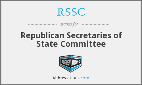 RSSC - Republican Secretaries of State Committee