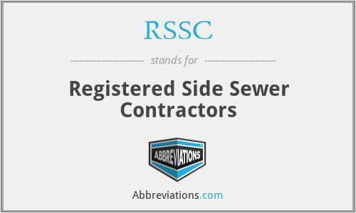 RSSC - Registered Side Sewer Contractors