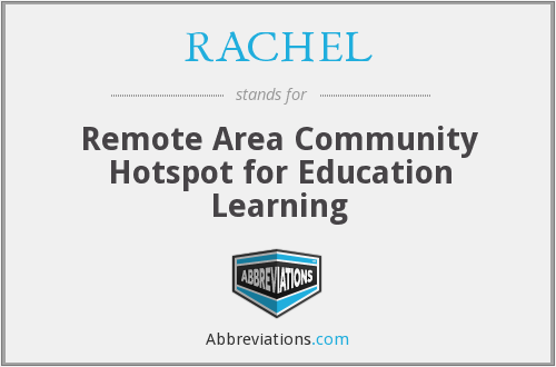 RACHEL - Remote Area Community Hotspot for Education Learning