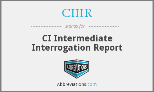 What does CIIIR stand for?