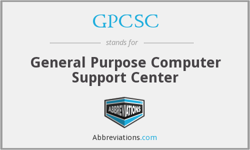 What does GPCSC stand for?