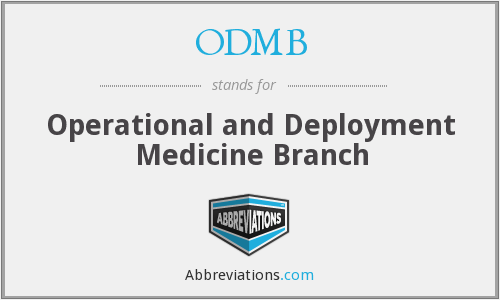 What does ODMB stand for?