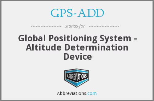 What does GPS-ADD stand for?