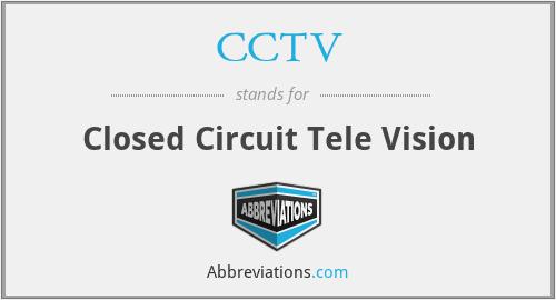 CCTV - Closed Circuit Tele Vision