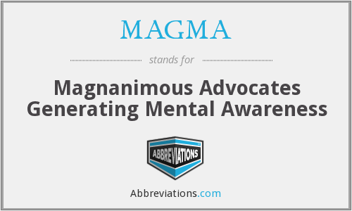MAGMA - Magnanimous Advocates Generating Mental Awareness
