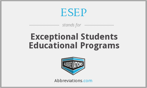 ESEP - Exceptional Students Educational Programs