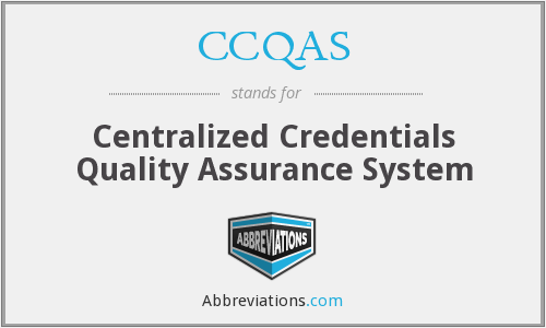 What does CCQAS stand for?