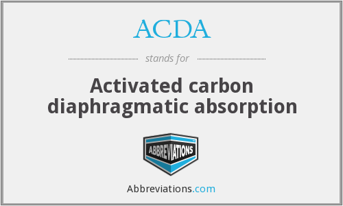 ACDA - Activated carbon diaphragmatic absorption