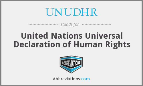 What does UNUDHR stand for?