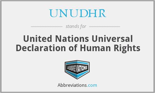 UNUDHR - United Nations Universal Declaration of Human Rights