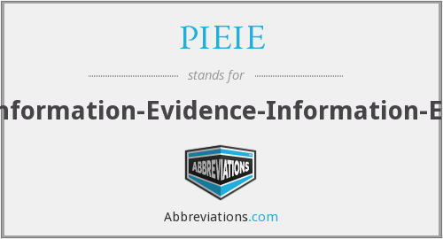 What does PIEIE stand for?
