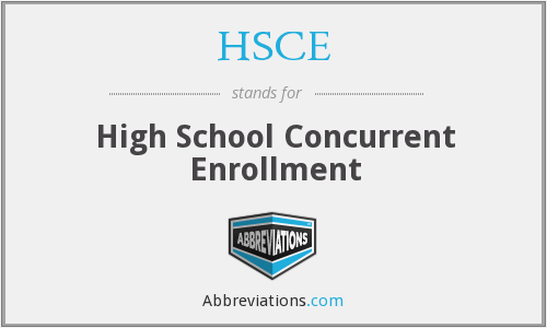What does HSCE stand for?