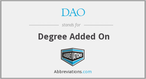 DAO - Degree Added On