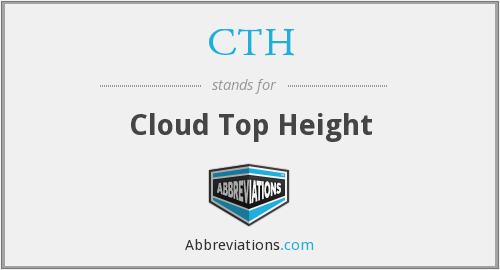 CTH - Cloud Top Height