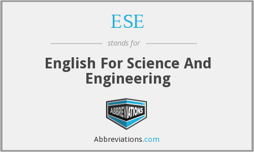 ESE - English For Science And Engineering