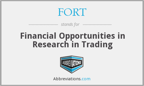 FORT - Financial Opportunities in Research in Trading