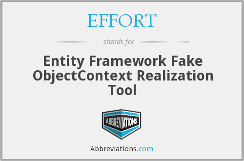 EFFORT - Entity Framework Fake ObjectContext Realization Tool