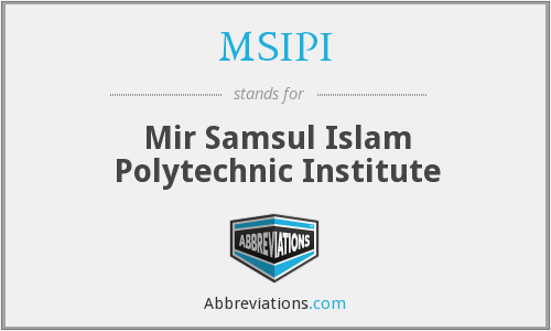 What does MSIPI stand for?