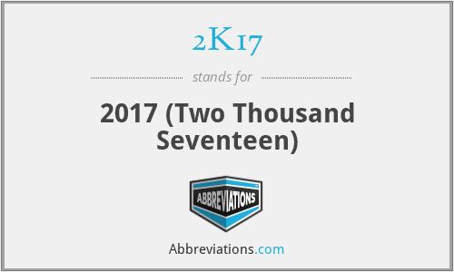 2K17 - 2017 (Two Thousand Seventeen)