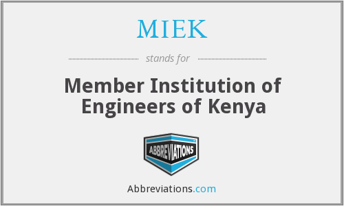 What does MIEK stand for?