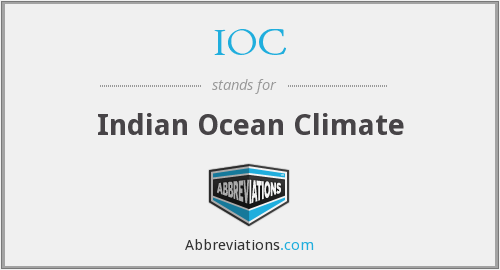 IOC - Indian Ocean Climate