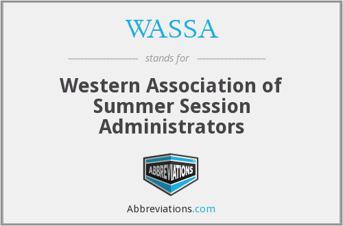 WASSA - Western Association of Summer Session Administrators