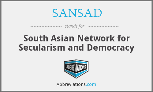 SANSAD - South Asian Network for Secularism and Democracy