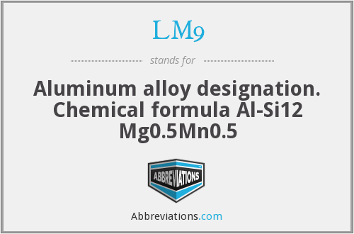 What does LM9 stand for?